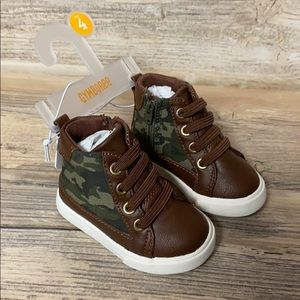 Gymboree Baby Boy Camo High Top Shoes New
